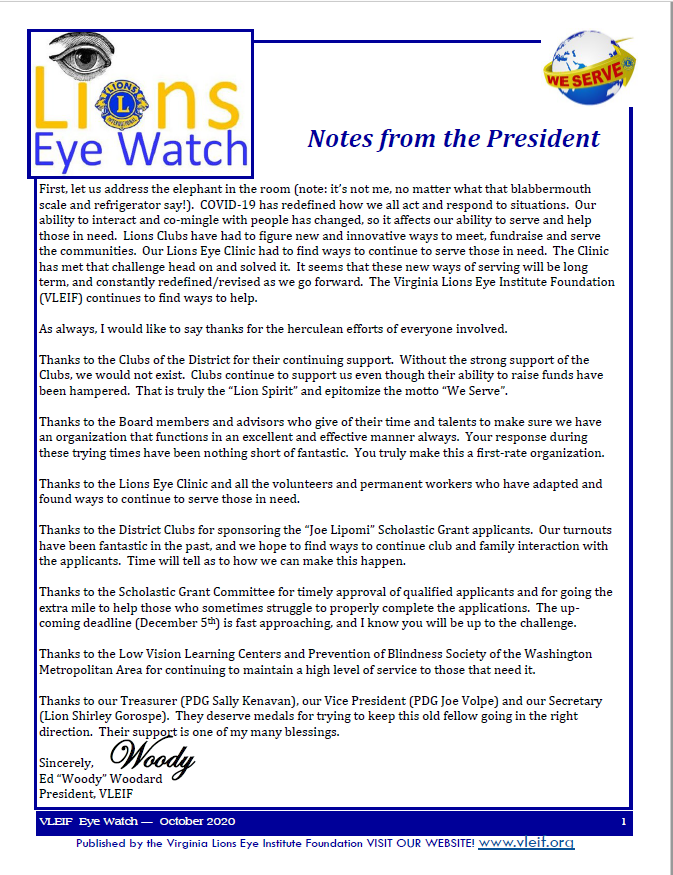 October 2020 Eyewatch Cover